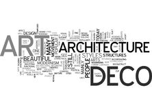 Art Deco Architecture Word Cloud Photographie stock libre de droits