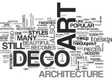 Art Deco And Architectureword Cloud Image libre de droits
