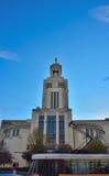 Art Deco-Architektur in Brüssel, moderne Kirche Stockfoto