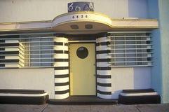 Art Deco architektura na zmierzchu bulwarze, Los Angeles, Kalifornia Obraz Stock