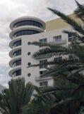 Art Deco architektury oceanu przejażdżka w południe plaży, Miami obrazy royalty free