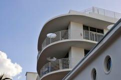 Art Deco architektury oceanu przejażdżka w południe plaży, Miami zdjęcia royalty free