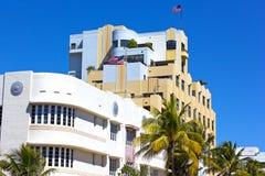 Art Deco arkitektur av Miami Beach strand Royaltyfria Bilder