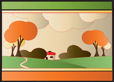 Art Deco Autumn Motif Royalty Free Stock Images