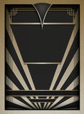 Art Deco Background en Kader royalty-vrije illustratie