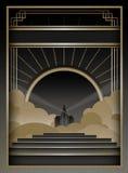 Art Deco Background en Kader Royalty-vrije Stock Afbeeldingen