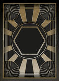 Art Deco Background och ram