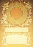 Art Deco background. An Art Deco style background or frame stock photos