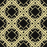 Art Deco Background. Vector modern tiles pattern. Abstract art deco seamless monochrome background royalty free illustration