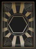 Art Deco Background y marco Fotografía de archivo libre de regalías