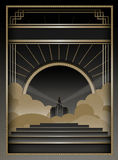 Art Deco Background y marco Imágenes de archivo libres de regalías