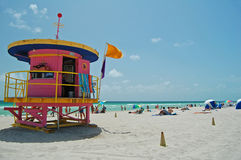 Art Deco Beach Imagens de Stock Royalty Free