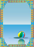 Art Deco Beach Ball Frame Illustration Libre de Droits