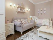 Art deco bedroom style Royalty Free Stock Photo