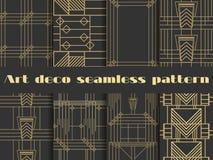 Art Deco bezszwowi wzory Art Deco geometryczny bezszwowy wzór Zdjęcia Royalty Free