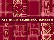 Art Deco bezszwowi wzory Art Deco geometryczny bezszwowy wzór Fotografia Royalty Free