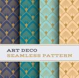 Art Deco bezszwowy wzór 32 ilustracja wektor