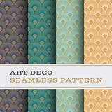 Art Deco bezszwowy wzór 40 Obraz Stock