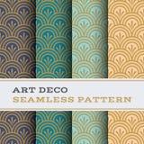 Art Deco bezszwowy wzór 04 Obrazy Royalty Free