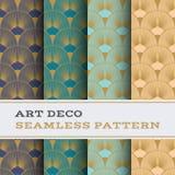 Art Deco bezszwowy wzór 15 Fotografia Stock