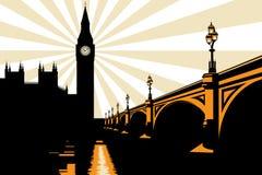 Art Deco Big Ben London Illustration royalty free stock image