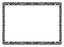 Art Deco black ornamental decorative frame Stock Photos