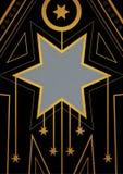 Art Deco bożych narodzeń gwiazdy granica Zdjęcie Royalty Free
