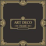Art Deco Border Frame Vector 05 Stock Photography