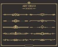 @ Art Deco Border 10 objekt 01 vektor illustrationer