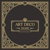 Art Deco Border-Rahmenvektor 01 Stockfotografie