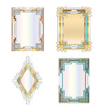 Art deco borders Royalty Free Stock Images