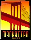 Art deco bridge vector stock illustration
