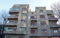 Art Deco: Bucharest ochraniał budynek Zdjęcia Stock