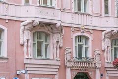 Art Deco buduje w Praga, republika czech Fotografia Royalty Free