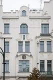 Art Deco buduje w Praga, republika czech Zdjęcia Royalty Free