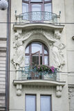 Art Deco buduje w Praga, republika czech Zdjęcie Stock