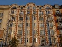 Art Deco budynek mieszkaniowy na Charbonnage quay w Bruksela Zdjęcia Stock