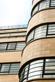 Art Deco Building. Art deco office block showing curved corner Royalty Free Stock Photo