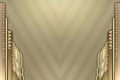Art Deco building border stock illustration