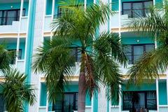 Art Deco building facade in Pattaya city royalty free stock photography