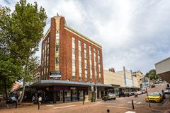Art Deco building in Newcastle Australia royalty free stock photos
