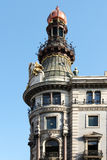 Art-deco building of madrid, spain Royalty Free Stock Photography