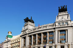 Art-deco building of madrid, spain Royalty Free Stock Images