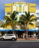 Art Deco building in Miami Beach, Florida Stock Images