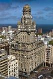 Art Deco building in Montevideo- Palacio Salvo. The iconic star of Montevideo's art-deco buildings is the Palacio Salvo on the Plaza de Independicia. designed by Royalty Free Stock Photo