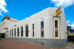 Art Deco building in Napier city. The ASB building in Napier is one of the city's best example of Art Deco architecture. Napier was destroyed by a massive Stock Image
