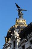 Art-deco buildings of madrid, spain Royalty Free Stock Photos