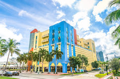Art deco buildings in Miami Stock Photography