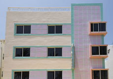 Art Deco buildings painted with pastel colors, Miami Architectural District, Florida, United States Stock Images