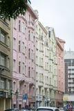 Art-Deco buildings in Prague, Czech Republic Royalty Free Stock Image